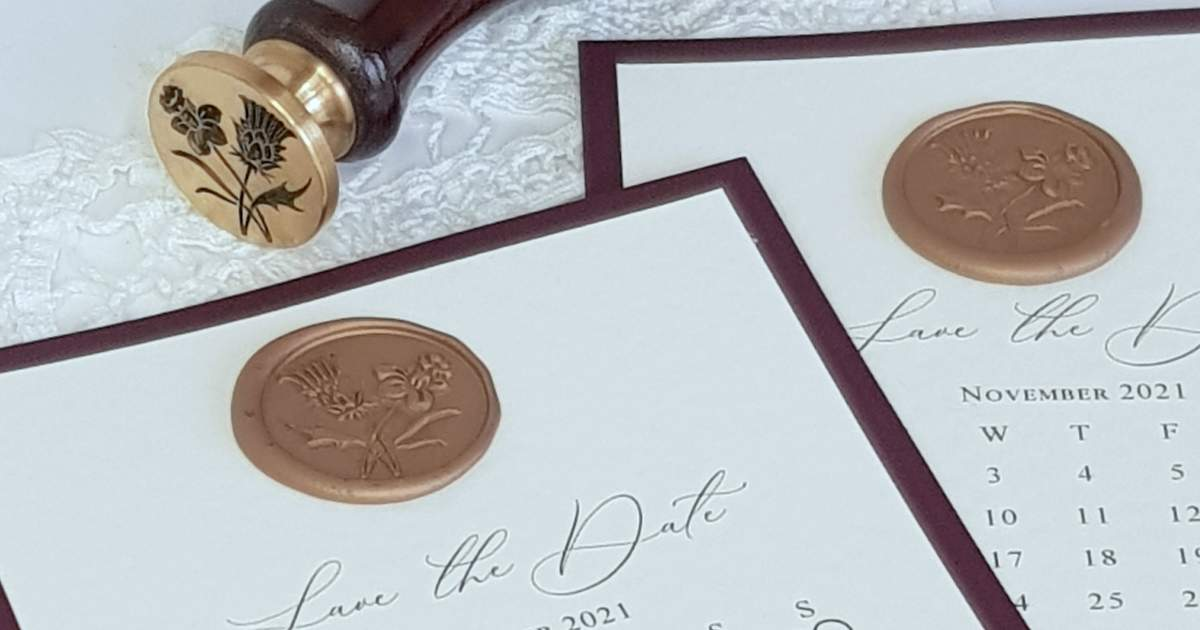was seal wedding stationery
