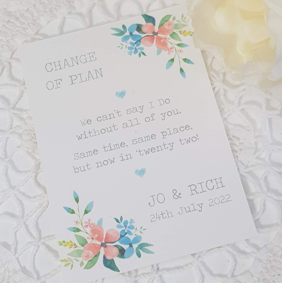 change the date card with flowers