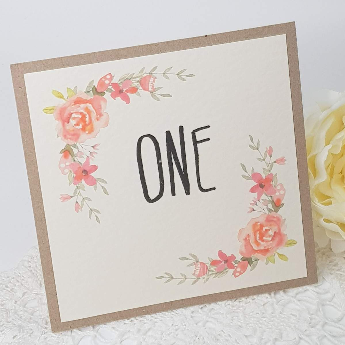 coral roses table number