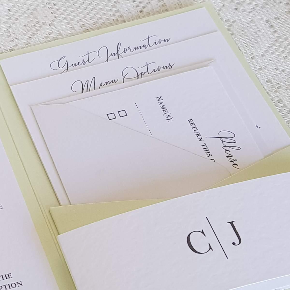 wedding guest information cards