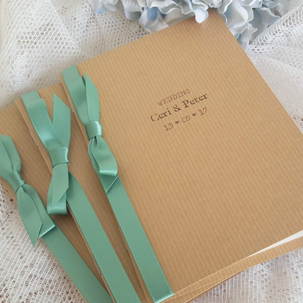 recycled kraft wedding order of ceremony booklet