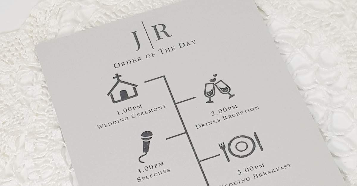 wedding order of the day timeline