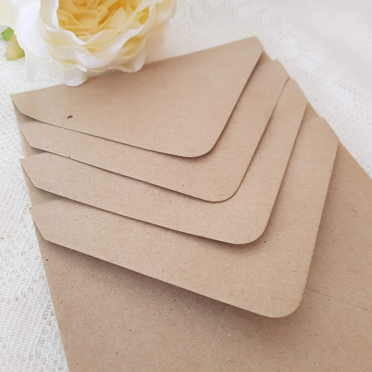 brown kraft recycled envelopes for eco wedding stationery