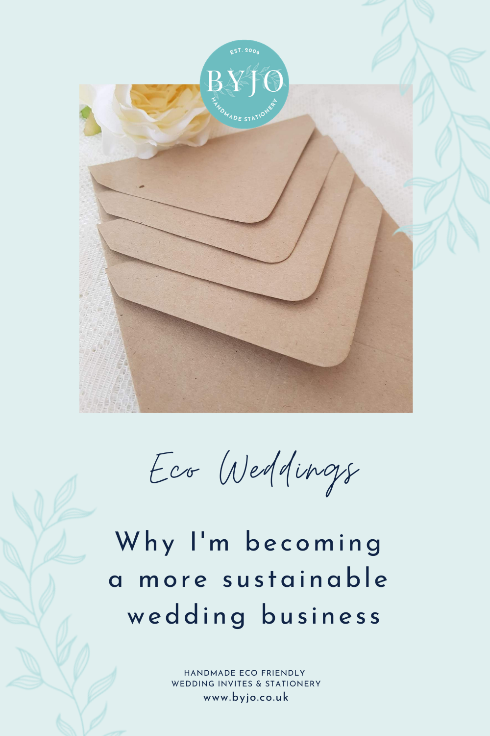 graphic - why I'm becoming a more sustainable wedding business