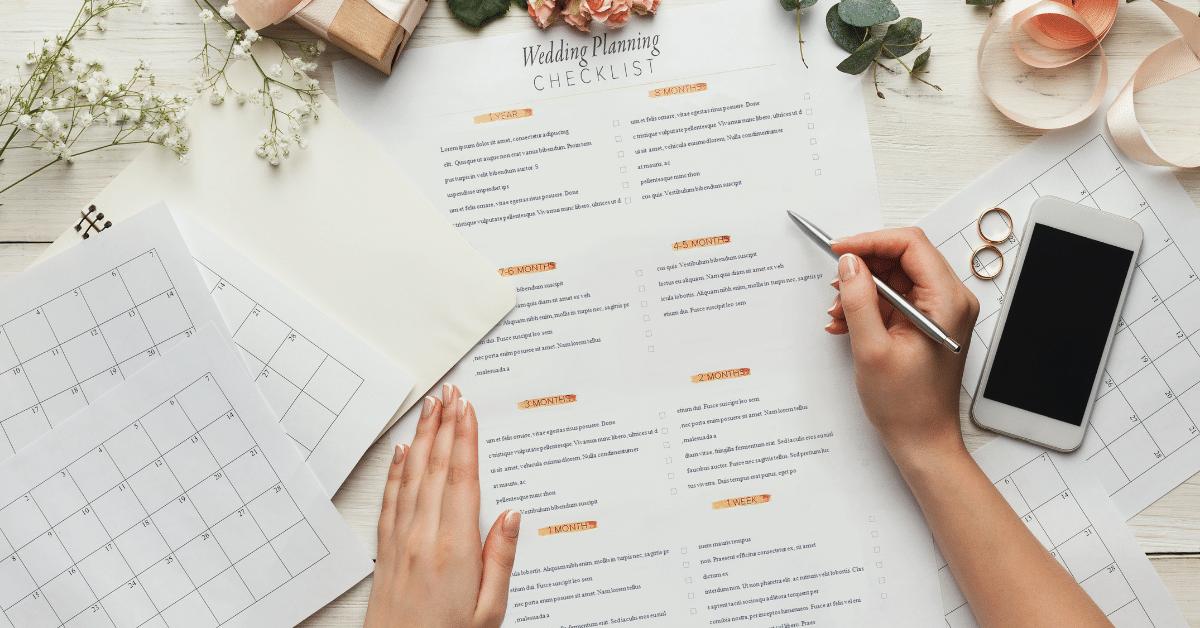 wedding stationery checklist and schedule