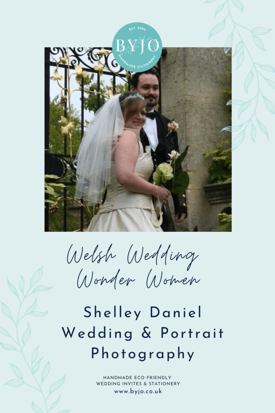 A graphic showing Welsh wedding supplier photographer Shelley Daniel