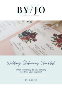 free wedding stationery checklist
