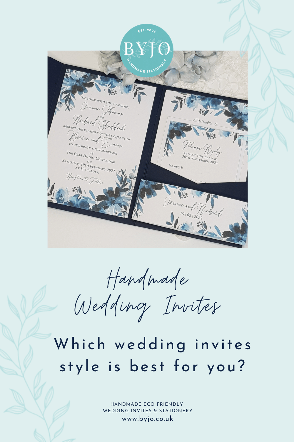 a graphic asking which wedding invite style is best for you