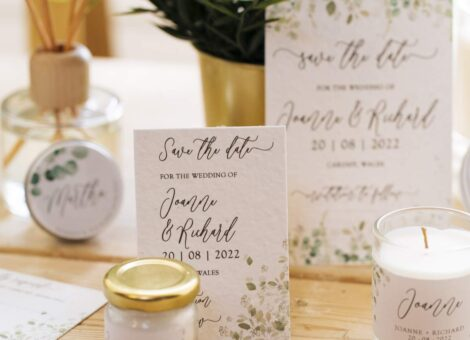 wedding stationery printed onto plantable seedpaper