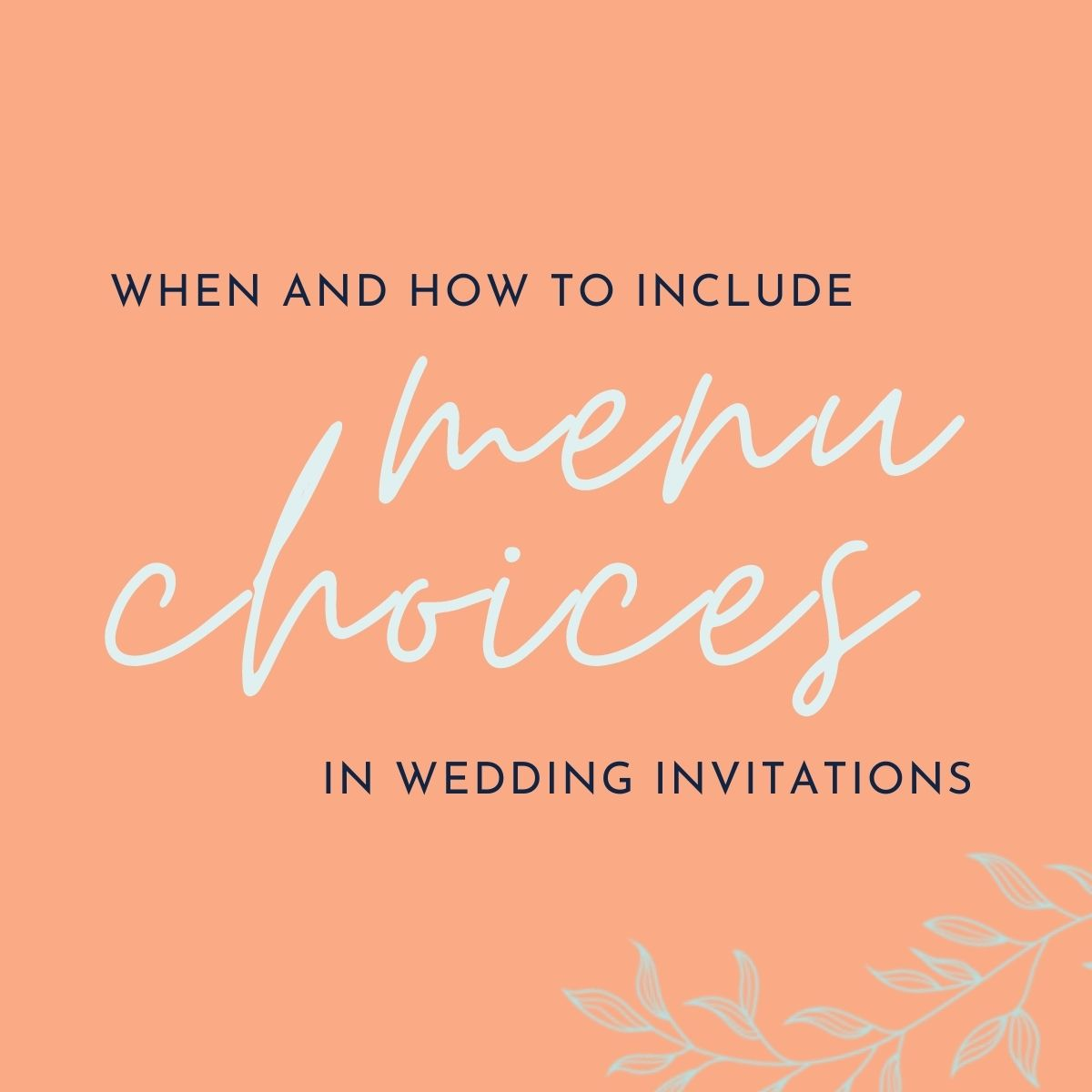 menu choices in wedding invitations graphic